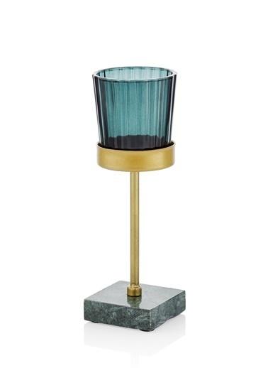 The Mia Metal Tealight Mumluk Renkli 5x5x16 Cm Renkli